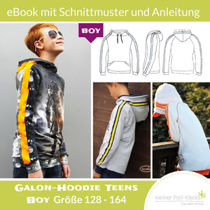 "eBook - ""Galon Teens Boy"" - Hoodie -  Kleiner Polli-Klecks"