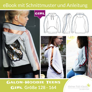 "eBook - ""Galon Teens Girl"" - Hoodie -  Kleiner Polli-Klecks"