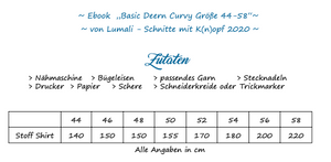 "eBook - ""Basic Deern Curvy"" - Shirt - Lumali"