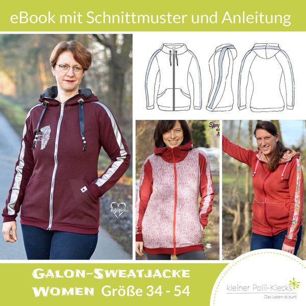 "eBook - ""Galon-Sweatjacke WOMEN"" - Sweatjacke -  Kleiner Polli-Klecks"