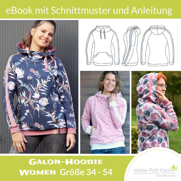 "eBook - ""Galon WOMEN"" - Hoodie -  Kleiner Polli-Klecks"
