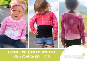"eBook - ""Long N Crop Pulli Kinder"" - Pullover -  Kleiner Polli-Klecks"