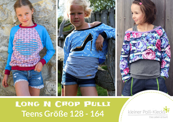 "eBook - ""Long N Crop Pulli Teens"" - Pullover -  Kleiner Polli-Klecks"