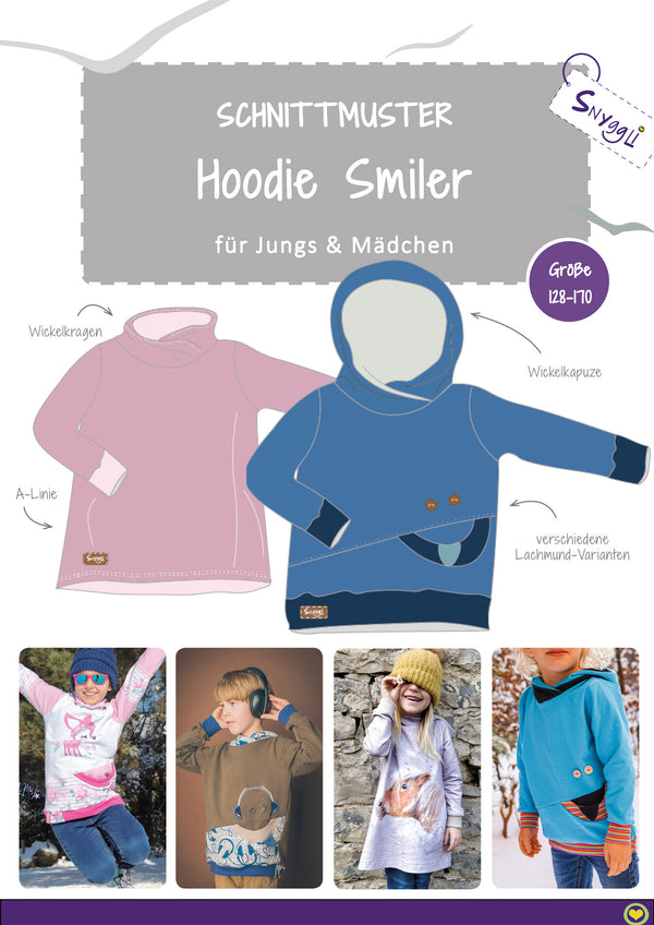 "eBook - ""Smiler Kids & Teens"" - Hoodie - Snyggli"