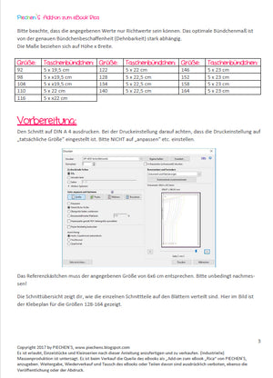"Freebook - ""Add-on zum eBook Rica"" - Kleid- Piechens"