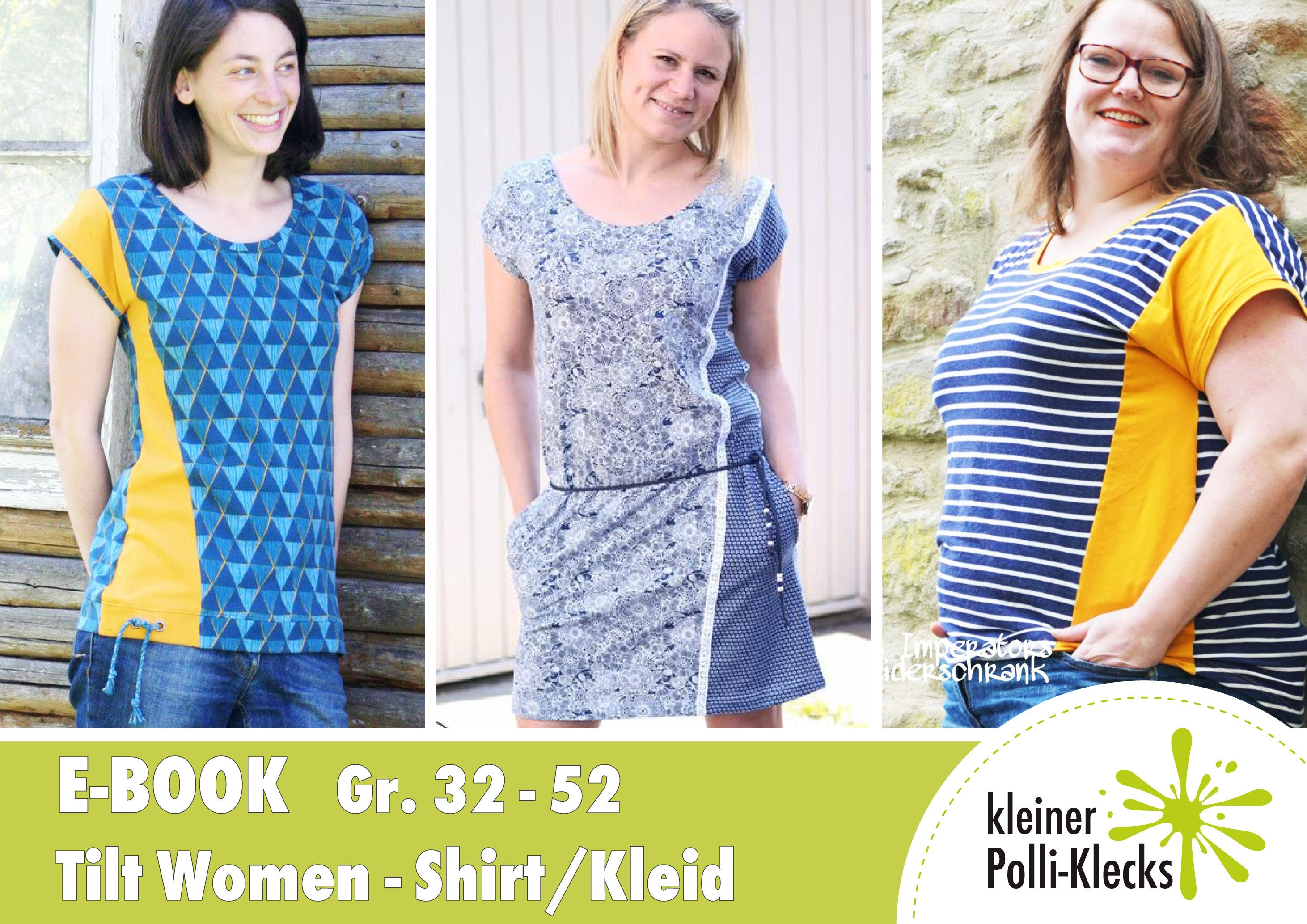 Freebook kleid damen baumwolle