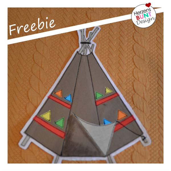 "Freebook/Freebie - Applikationsvorlage - ""Tipi"" - Herzensbunt Design"