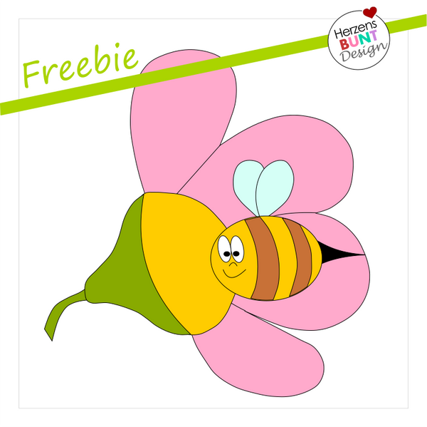 "Freebook/Freebie - Applikationsvorlage - ""Sabienchen"" - Herzensbunt Design"
