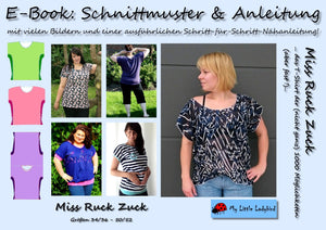 "eBook - ""Miss Ruck-Zuck"" - Shirt - My little Ladybird - Glückpunkt"