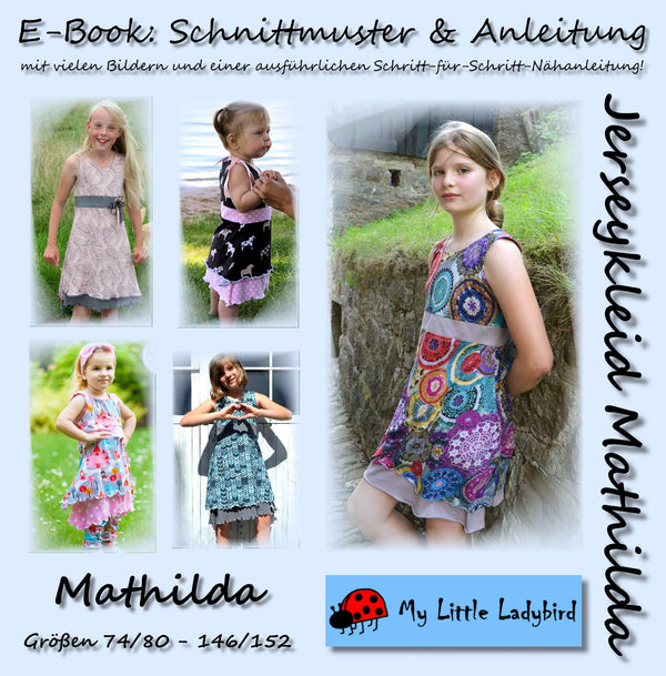 "eBook - ""Mathilda"" - Jerseykleid - My little Ladybird - Glückpunkt"
