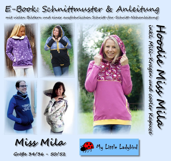 "eBook - ""Miss Mila"" - Hoodie - My little Ladybird - Glückpunkt"
