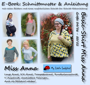 "eBook - ""Miss Anna"" - Basic-Shirt - My little Ladybird - Glückpunkt"