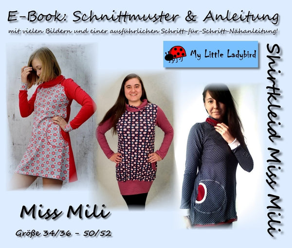 "eBook - ""Miss Mili"" - Shirtkleid - My little Ladybird - Glückpunkt"