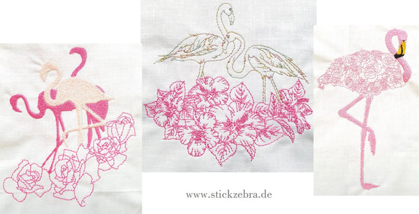 "Flamingo Set ""Line Art""  - Glückpunkt."