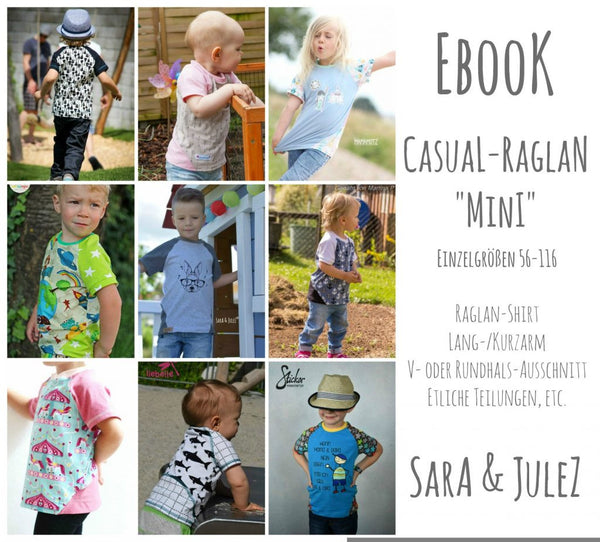 "eBook - ""Casual Raglan Mini"" - Shirt - Sara & Julez"