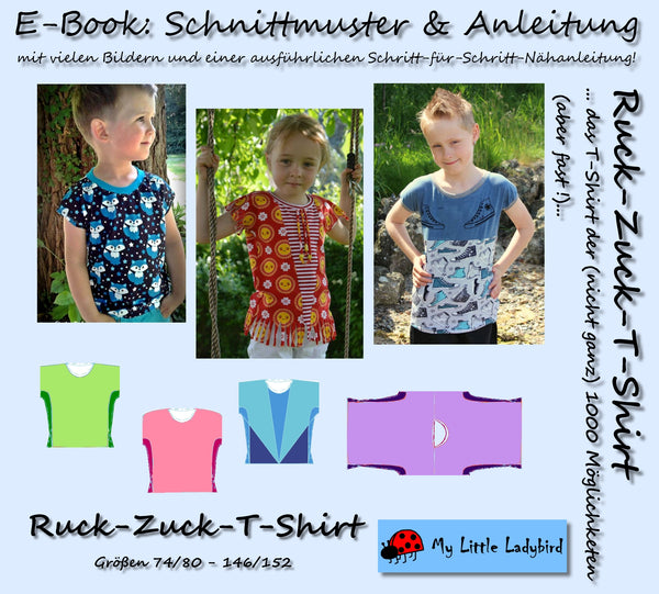 "eBook - ""Ruck-Zuck"" - Shirt - My little Ladybird - Glückpunkt - Kinder"