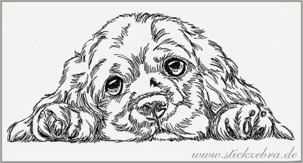 "Stickdatei - ""Hund Cocker Spaniel"" - Stickzebra"