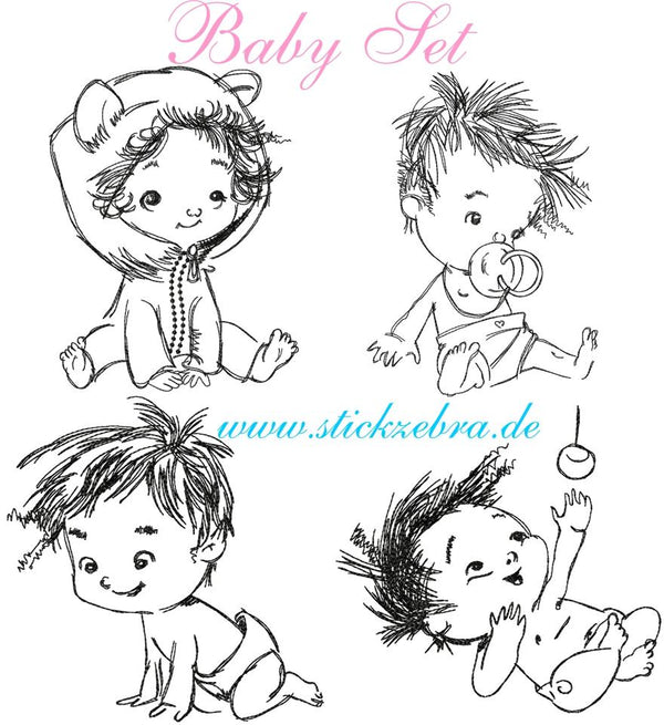 "Stickdatei - ""Baby Set"" - Stickzebra"