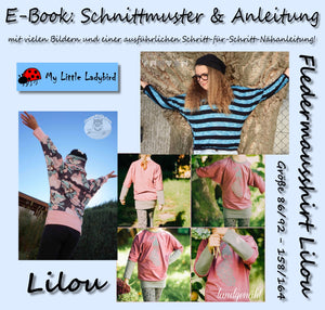 "eBook - ""Lilou"" - Fledermausshirt - My little Ladybird - Glückpunkt"