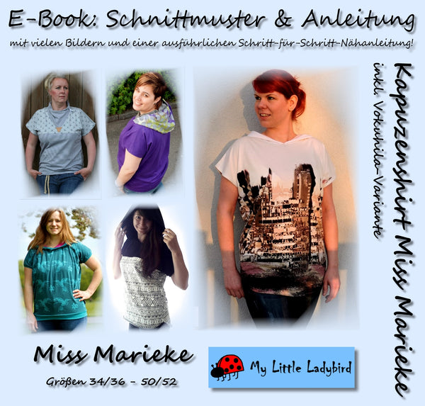 "eBook - ""Miss Marieke"" - Kapuzenshirt - My little Ladybird - Glückpunkt"