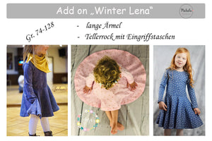 "eBook - ""Add-on Winter Lena"" - lange Ärmel & Tellerrock - Mahalu Design"