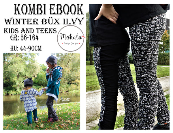 "Kombi-eBook - ""Winter Büx Ilvy"" - Hose - Mahalu Design - Glückpunkt"