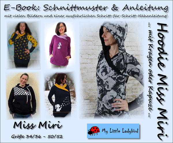 "eBook - ""Miss Miri"" - Hoodie - My little Ladybird - Glückpunkt"