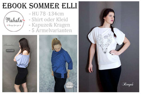 "eBook - ""Sommer Elli"" - Shirt/Kleid - Mahalu Design - Glückpunkt"