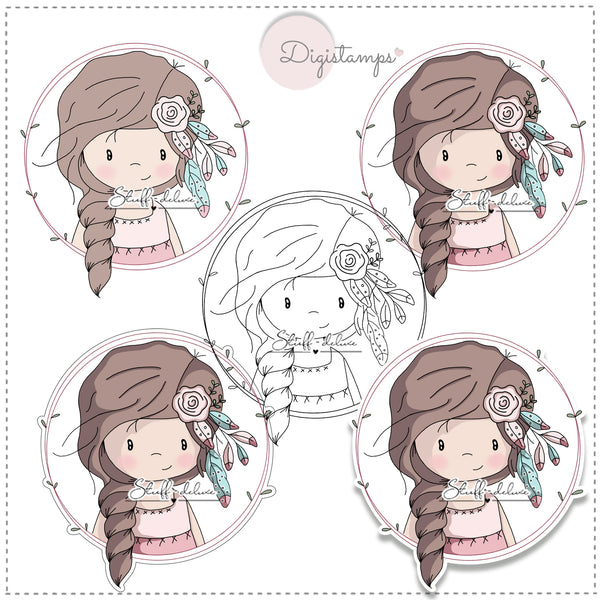 "DigiStamp - ""Boho Mia Button"" - Stuff-Deluxe"