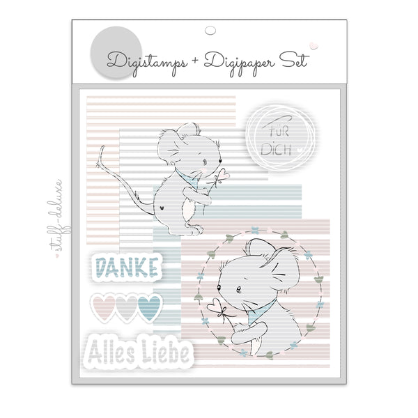 "DigiStamp - ""Maus Pippa"" - Stuff-Deluxe - Glückpunkt."