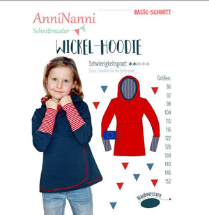 "Schnittmuster - ""Wickel Hoodie"" Pullover - AnniNanni"