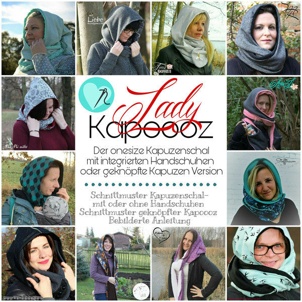 "eBook - ""Lady Kapoooz"" - Kapuzenschal - From Heart to Needle"