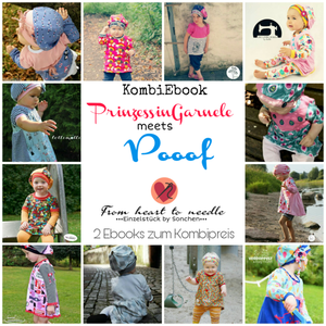 "eBook - ""Prinzessin Garnele meets Pooof"" - From Heart to Needle - Kleid & Mütze - Glückpunkt."