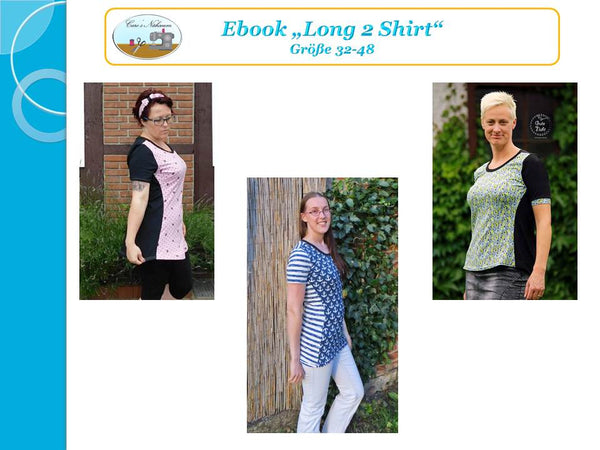 "eBook - ""Long 2 Shirt"" - Shirt - Caro's Nähseum - Glückpunkt"