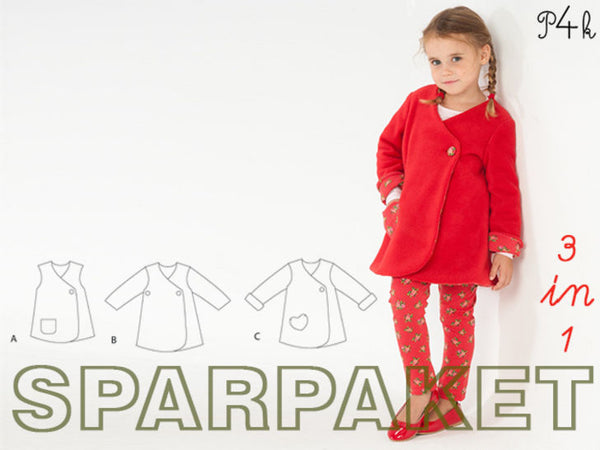 "Kombi-eBook - Kleid/Tunika/Winterjacke & Leggings ""Lena & Enna"" - Pattern4kids"