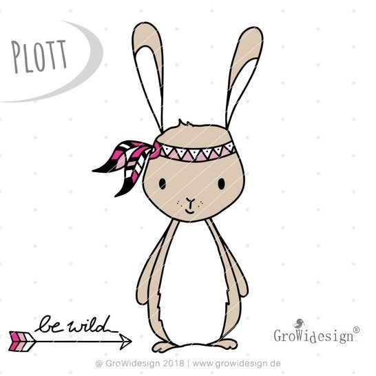 "Plotterdatei - ""Boho Hase"" - GroWidesign"