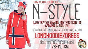 "eBook ""N-Style"" - Pullover/Kleid - inkl. Plotterdatei - From Heart to Needle - Glückpunkt."