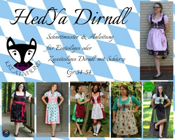 "eBook - ""HedYa Dirndl"" - Kleid - Kreativhund"