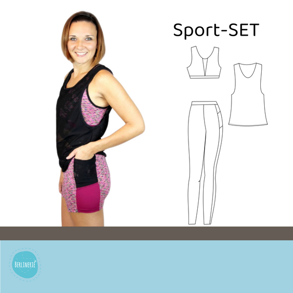 "eBook - ""Sport-SET"" - Leggings, Bustier & Top - Berlinerie"