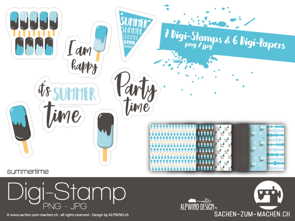 "DigiStamp - ""Summertime"" - Alpwind"
