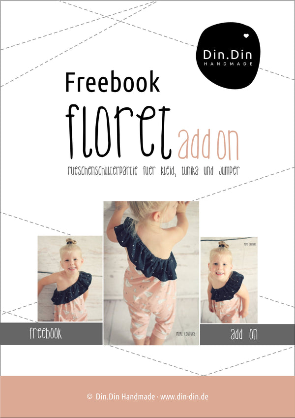 "FREEBOOK - ""Floret - Rüschen"" - Add-on für das eBook Floret 2.0 - Din Din Handmade"