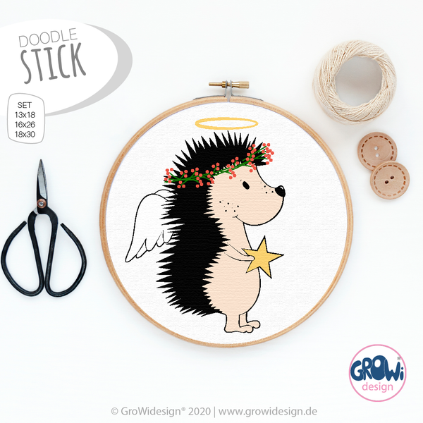 "Stickdatei - ""Igel - Engelchen"" - GroWidesign"