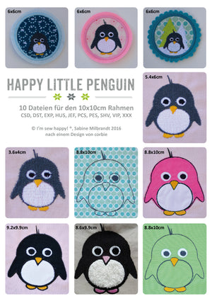 "Stickdatei - ""Happy little Penguin - gewerbliche Nutzung"" - I'm sew happy"