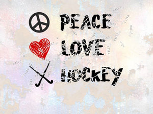 "Plotterdatei - ""Peace, Love, Hockey"" - Kall.i-Design"