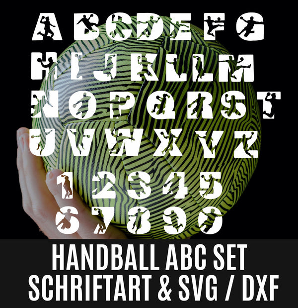 "Plotterdatei - ""Handball"" - Schriftart - Daddy2Design"