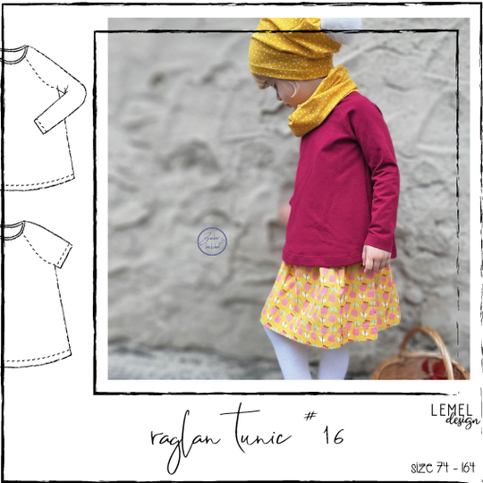 "eBook - ""raglan tunic #16"" - english pattern - Lemel Design"