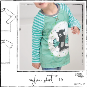 "eBook - ""basic raglan shirt #15"" - english pattern - Lemel Design"