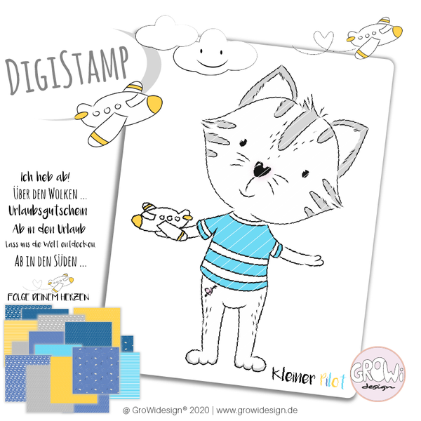 "DigiStamp - ""Kleiner Pilot"" - GroWidesign"