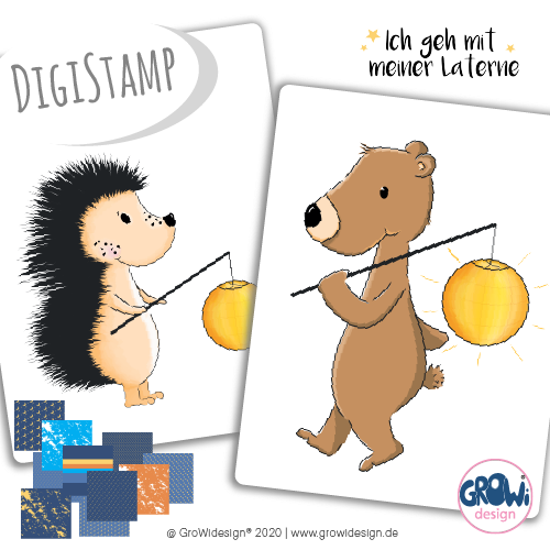 "DigiStamp - ""Laternenfreunde"" - GroWidesign"
