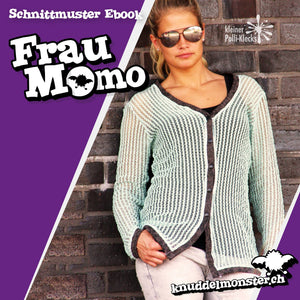 "eBook - ""Frau Momo"" -Cardigan - Knuddelmonster"